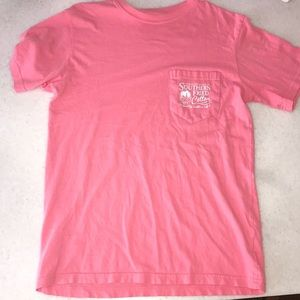 Southern Fried Cotton Pink short sleeve tee,size S